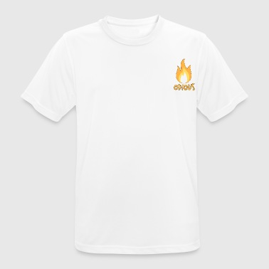odious flame outlined - Men's Breathable T-Shirt