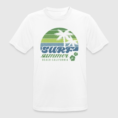 Surf Summer Beach California T-shirt - Maglietta da uomo traspirante