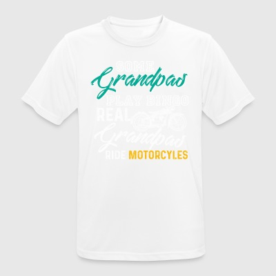 Some Grandpas Play Bingo Real Grandpas Motorcycles - Men's Breathable T-Shirt