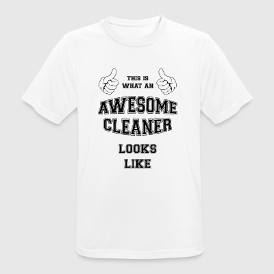 AWESOME CLEANER - mannen T-shirt ademend