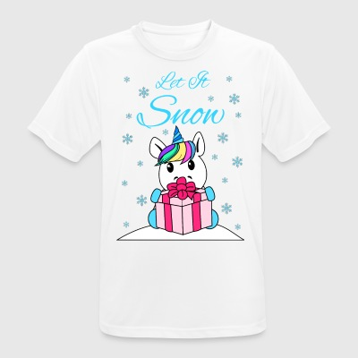 Let it snow - Andningsaktiv T-shirt herr