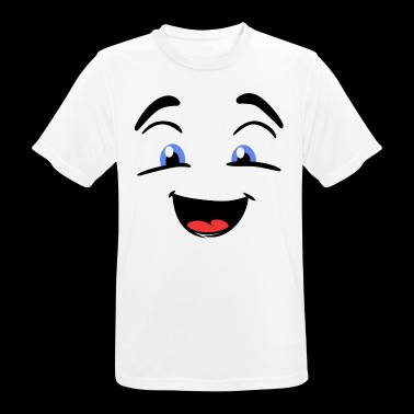 Male laughing smiley. Gift idea - Men's Breathable T-Shirt