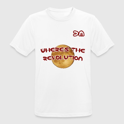 DM Where's The Revolution - mannen T-shirt ademend