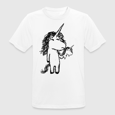 Kaede the unicorn and his friend angry - Men's Breathable T-Shirt