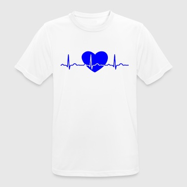 ECG HEARTLINK HEART blue - Men's Breathable T-Shirt