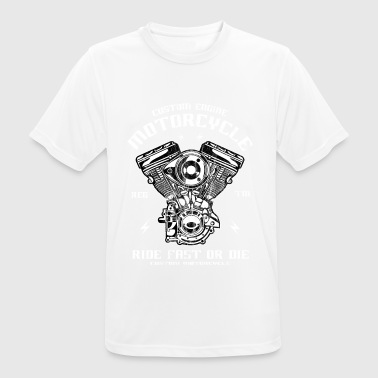 CUSTOM ENGINE - motorbike and biker shirt motif - Men's Breathable T-Shirt