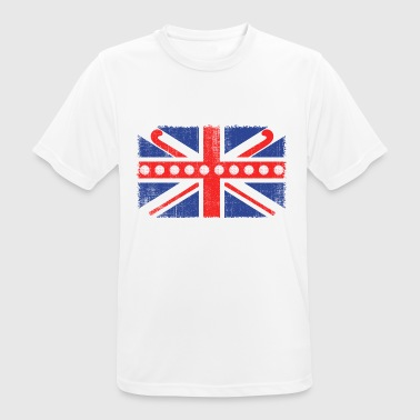 Vintage Flag> UK Flag Made of Hockey Balls + Stic - Men's Breathable T-Shirt
