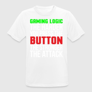 Gaming Logic Funny Gamer camiseta - Camiseta hombre transpirable