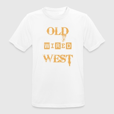 old wired west - Maglietta da uomo traspirante