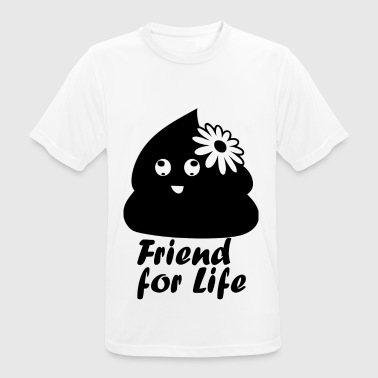 friendforlife blak - Men's Breathable T-Shirt