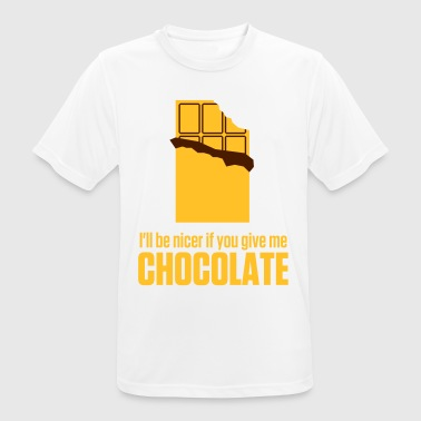 Give me chocolate. Then I am also friendly! - Men's Breathable T-Shirt