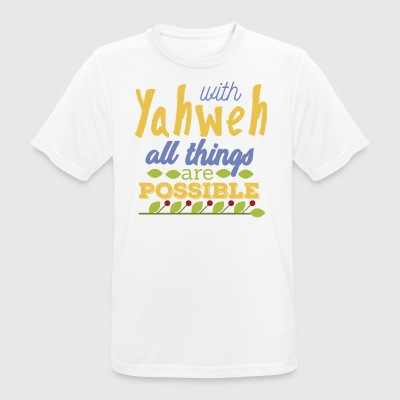 With Yahwe All Things are Possible - Men's Breathable T-Shirt