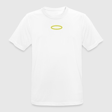Cat with wings and halo white - Men's Breathable T-Shirt