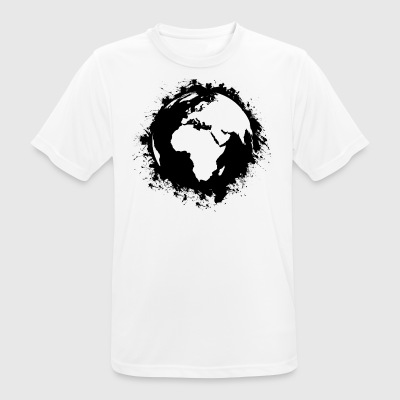 Earth splatter - Andningsaktiv T-shirt herr