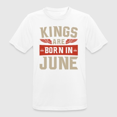 June T-shirt gaveidé fødselsdag Kings i June - Herre T-shirt svedtransporterende