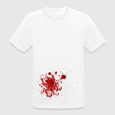 Blood splatter splatter Halloween blood spatter - Men's Breathable T-Shirt