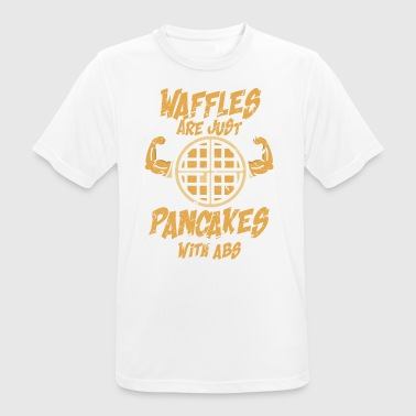 Waffles are just pancakes with abs 6 pack gift - Men's Breathable T-Shirt
