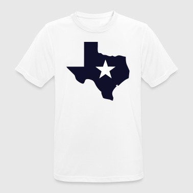 TEXAS State Outline Star - T-shirt respirant Homme