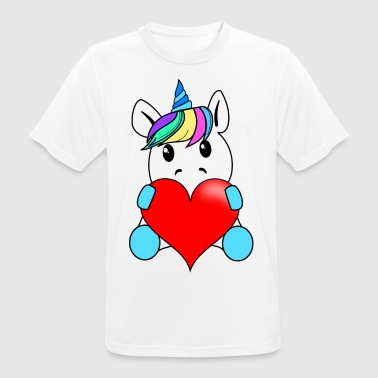 Unicorn with heart - Men's Breathable T-Shirt