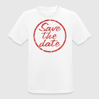Save the date stamp - Men's Breathable T-Shirt