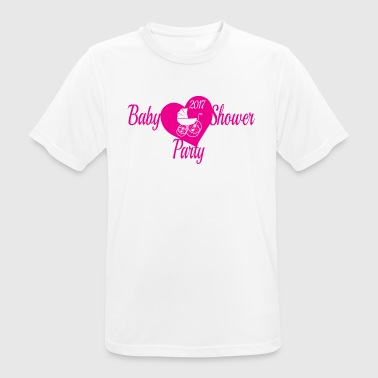 Babyshower Party 2017 - mannen T-shirt ademend