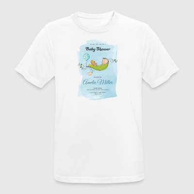 baby shower - Camiseta hombre transpirable