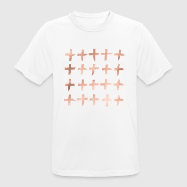 Rose gold crosses - Men's Breathable T-Shirt