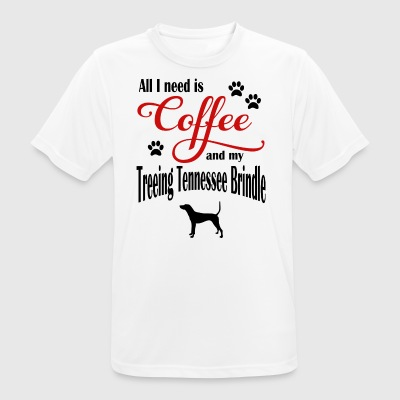 Treeing Tennessee Brindle Coffee - Men's Breathable T-Shirt