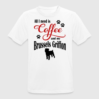 Brussel Griffon Coffee - Men's Breathable T-Shirt