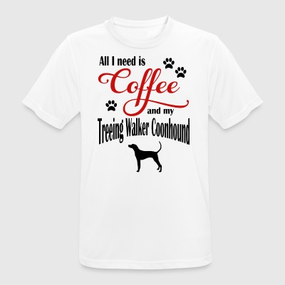 Treeing Walker Coonhound Coffee - Men's Breathable T-Shirt
