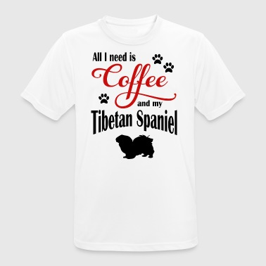 Tibetan Spaniel Coffee - Men's Breathable T-Shirt