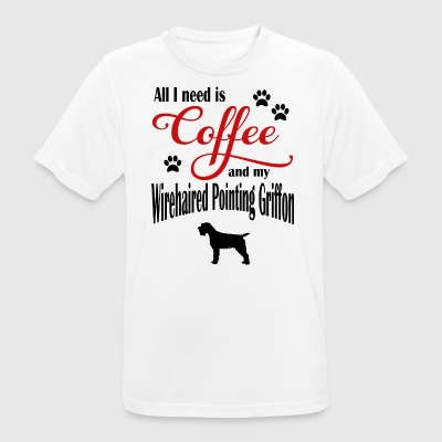 Wirehaired Pointing Griffon Coffee - Men's Breathable T-Shirt