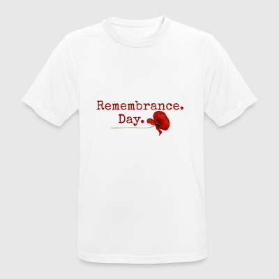 Remembrance Day. Red Poppy Gifts - Men's Breathable T-Shirt