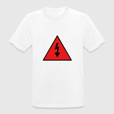 electricity danger signal - Men's Breathable T-Shirt
