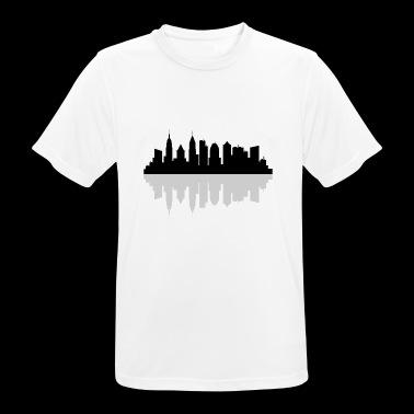 new york skyline - mannen T-shirt ademend