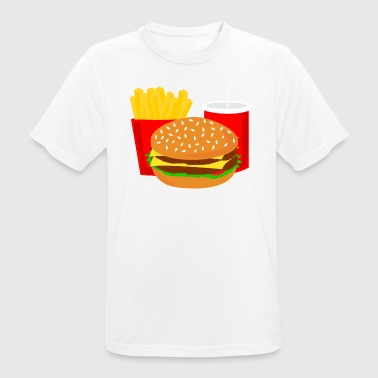 Burger Menu Fast Food Cola Gift Gift Idea - Men's Breathable T-Shirt