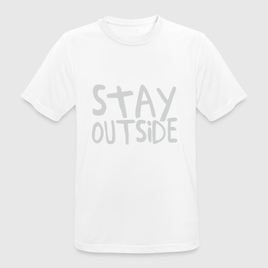 Stay Outside - Men's Breathable T-Shirt
