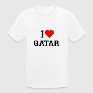 I love Qatar - Men's Breathable T-Shirt