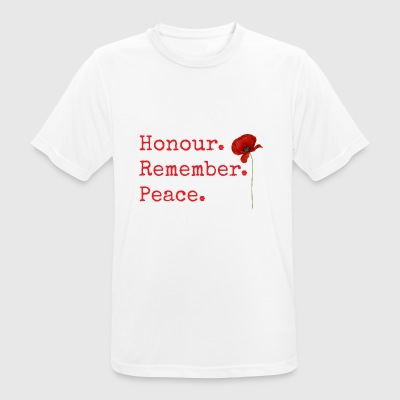 Honour. Remember. Peace. Remembrance Day gifts. - Men's Breathable T-Shirt