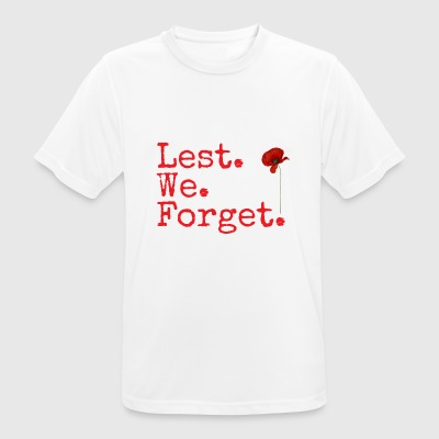 Lest. We. Forget. Remembrance Day gifts. Red Poppy - Men's Breathable T-Shirt