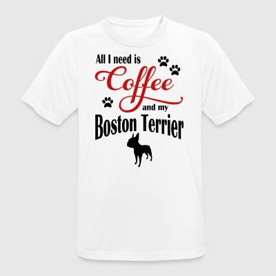 Boston Terrier Coffee - Maglietta da uomo traspirante