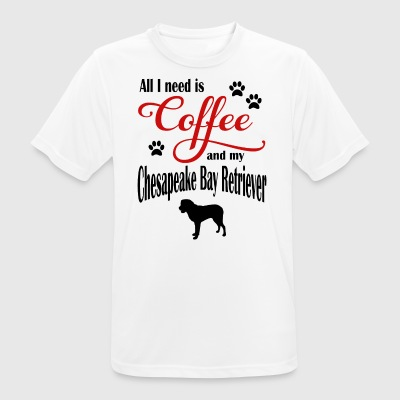 Chesapeake Bay Retriever Coffee - Pustende T-skjorte for menn
