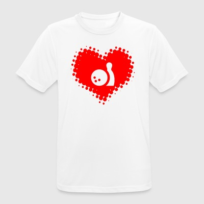 I love bowling - bowling pin bowling ball - Men's Breathable T-Shirt
