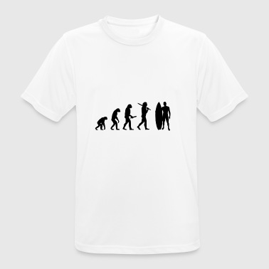 man surfboard evolution progress development - Men's Breathable T-Shirt