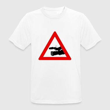 cameraman Attention! - T-shirt respirant Homme