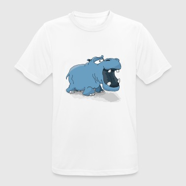 Hippo (hippopotamus) - Men's Breathable T-Shirt