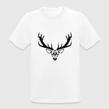 Deer design - deer antler - graphic in black - Men's Breathable T-Shirt