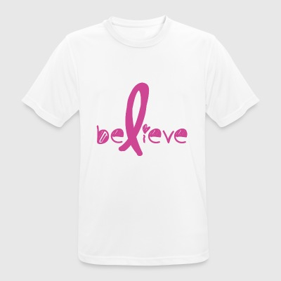 Tro Cancer Fight - Andningsaktiv T-shirt herr