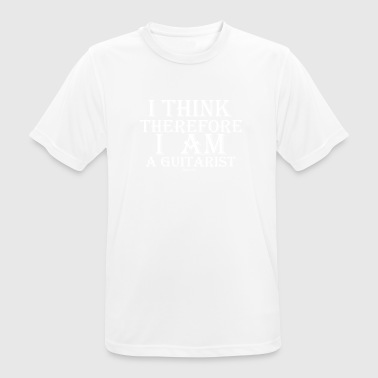 Cogito Ergo Sum Guitarist (White) - Men's Breathable T-Shirt