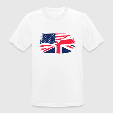USA - Union Jack Flag - Men's Breathable T-Shirt